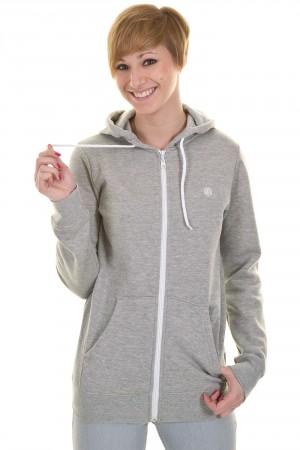 Element Erin Zip-Hoodie girls (grey heather) buy at skatedeluxe