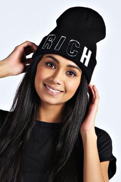 Kirsten RICH Beanie Hat at boohoo.com