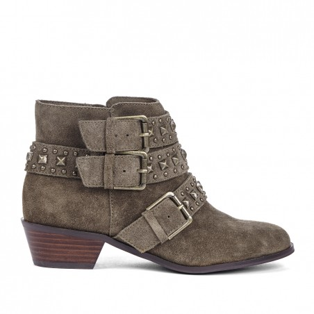 Sole Society - Stud detail booties - Harley - Army