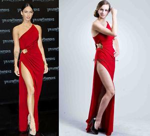 Abendkleid Damen Celebrity Sexy Rot Einschultrig Schlangen Hüfte förmlich Ball | eBay