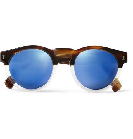 IllestevaLeonard Half/Half Round-Frame Acetate Sunglasses|MR PORTER