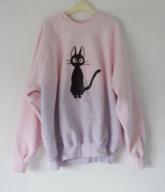 sweater pastel cat sweater