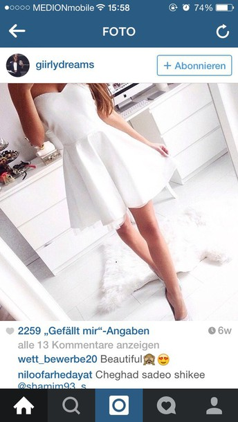 dress short white