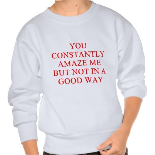 amazing insult sweatshirt from Zazzle.com