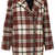 Collarless Check Wool Jacket - Jackets & Coats  - Clothing  - Topshop