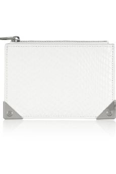 Alexander Wang Prisma snake-effect leather coin purse - 45% Off Now at THE OUTNET