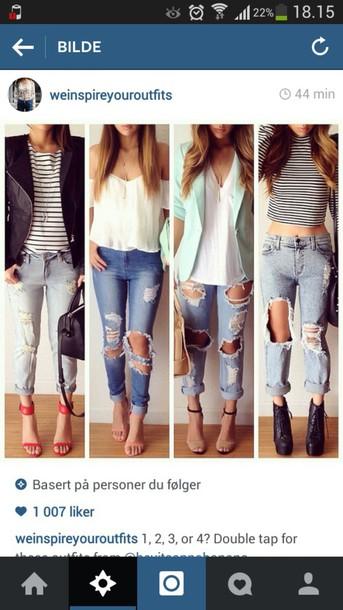 jacket clothes blouse jeans boyfriend jeans jewels