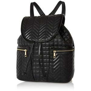 River Island Black quilted rucksack - Polyvore