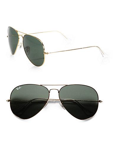Ray-Ban - Original Gold Aviator Sunglasses - Saks.com