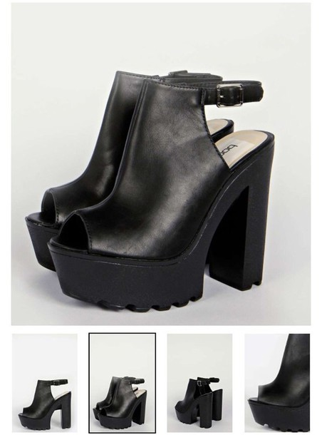 shoes style fashion chunky heels heels wedges black boots black heels black shoes