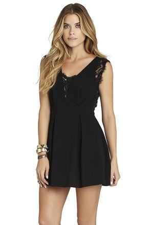 Lace-Inset V-Back Dress | BCBGeneration