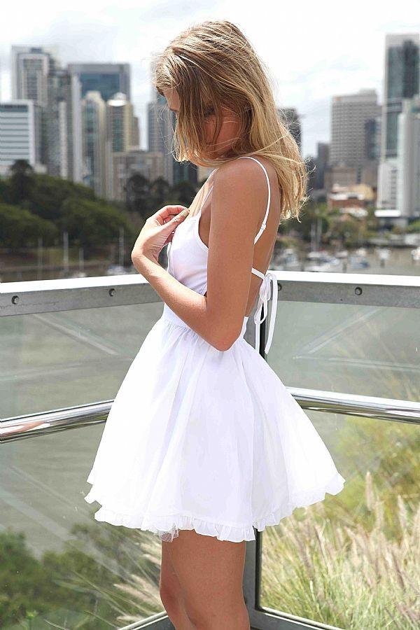 dress white dress cut-out dress open back dresses backless white dress summer dress