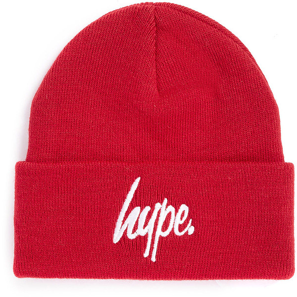 Hype Red Beanie - Polyvore