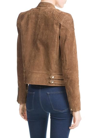 MANGO - NEW - Peccary biker jacket