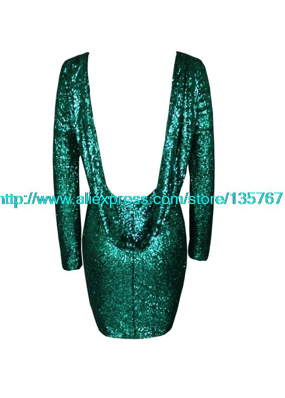 Aliexpress.com : Buy free shIpping .Fashion major Halter back sequin dress long sleeve backless bodycon party dress 301 from Reliable dresses fashion suppliers on ED FASHION