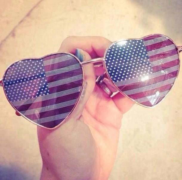 sunglasses july 4th american flag