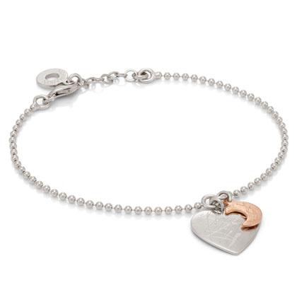 two pendants silver bracelet