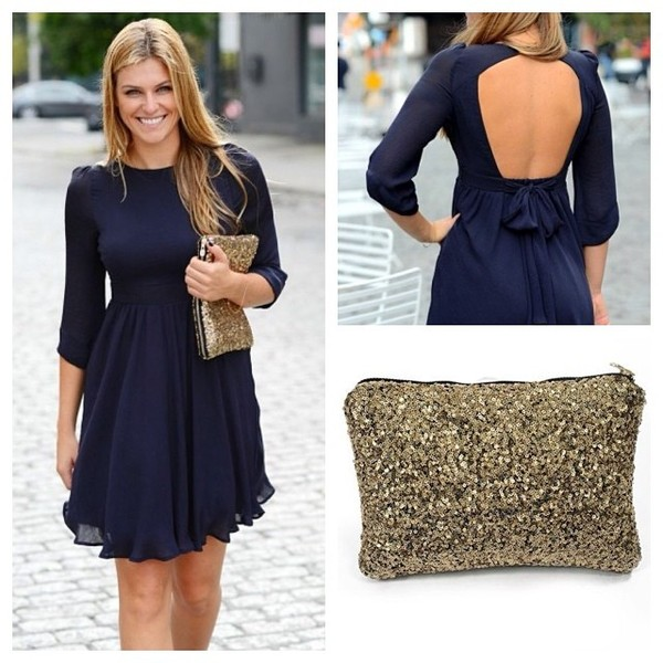 dress style fashion sequins backless instagram fashion diaries style blogger fashion blogger ootd look of the day girly girly bag