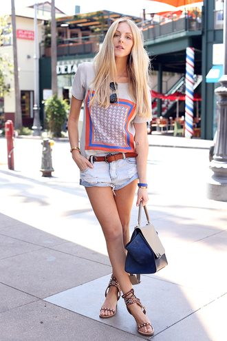 cheyenne meets chanel shirt shorts shoes bag sunglasses