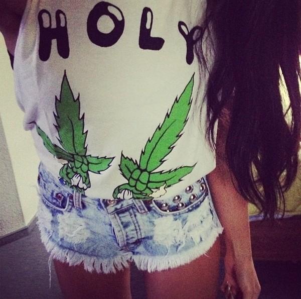 shirt weed t-shirt shorts like