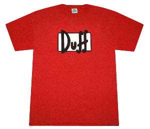 Simpsons Duff Logo Graphic TEE Shirt RED | eBay