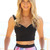 Black Party Top - Black Sleeveless Cross-Over Crop Top | UsTrendy