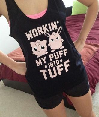 tank top black pokemon black tank top shirt workout