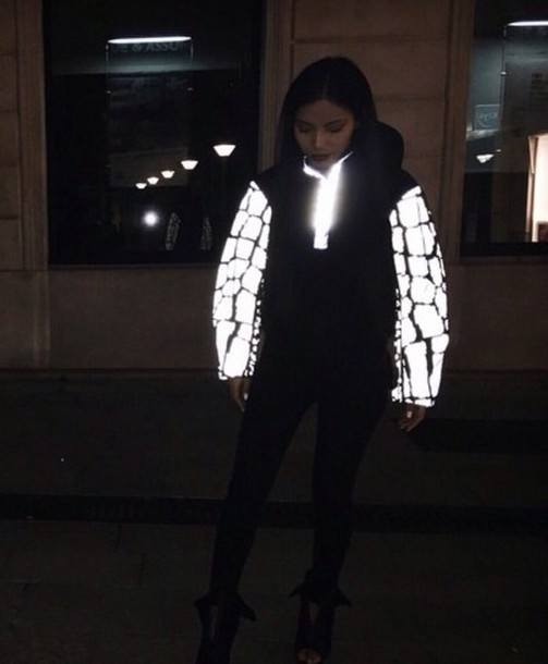 jacket black and white dope neon