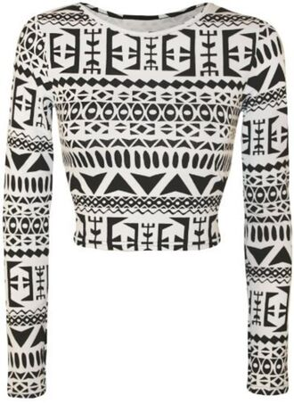 top crop tops aztec black white black and white egyptian