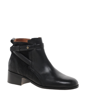 Whistles | Whistles Lauren Cross Strap Flat Ankle Boots at ASOS