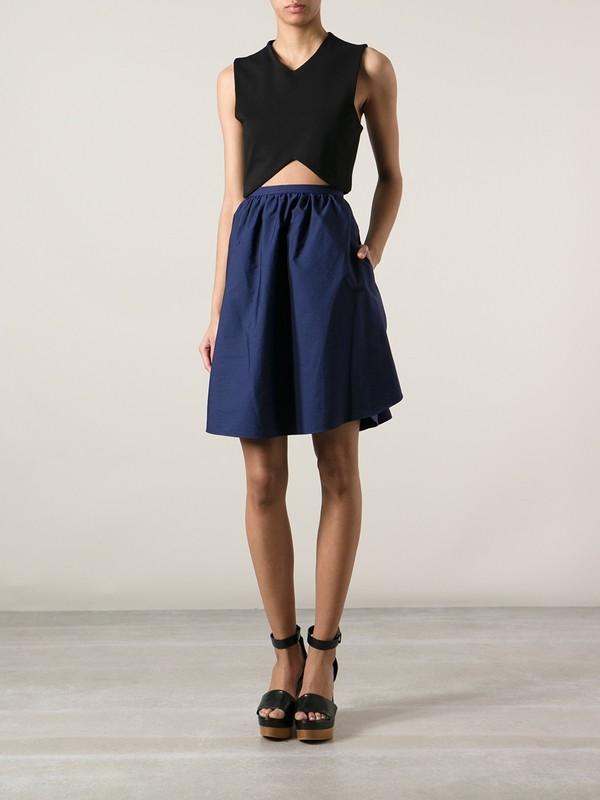 skirt blue skirt carven