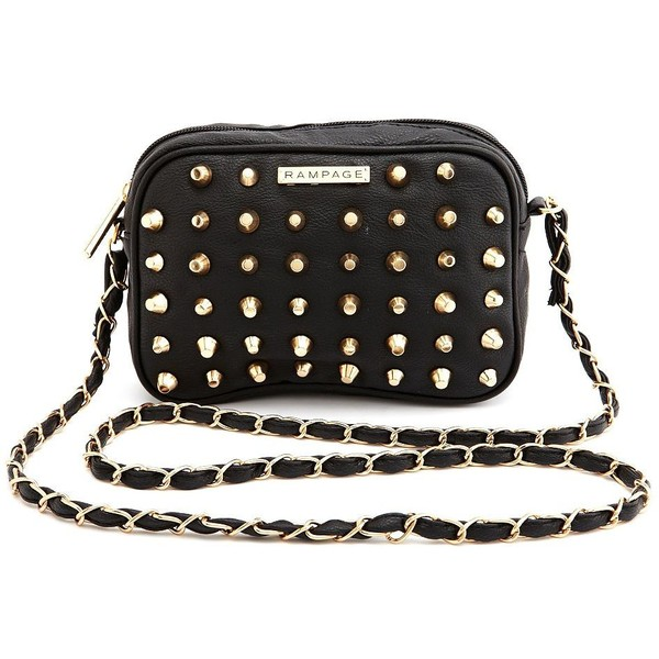 Studded Chain-Strap Cross-Body Bag - Charlotte Russe - Polyvore