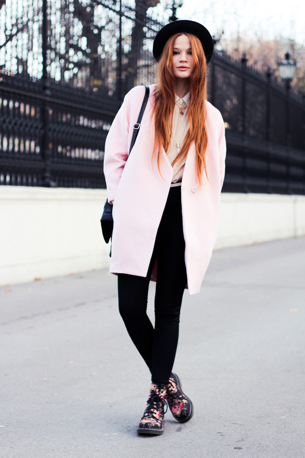 a pretty pass coat scarf shoes blouse bag hat jewels