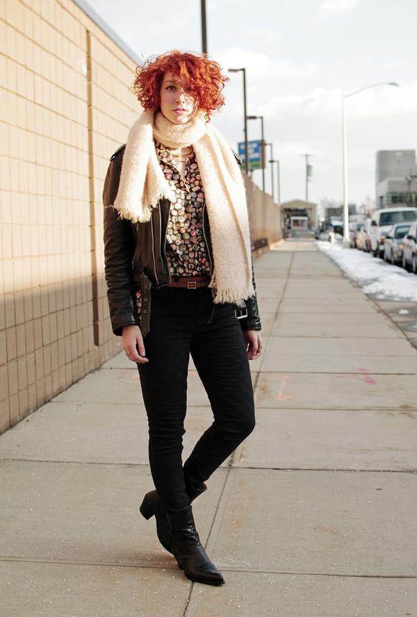 de lune jacket shirt scarf belt shoes jeans jewels