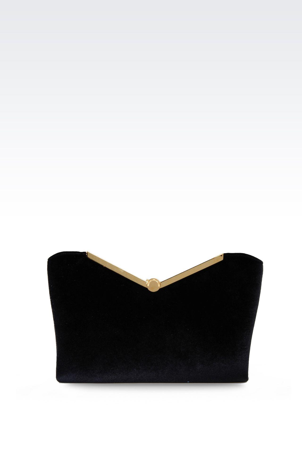 Emporio Armani Women Messenger Bag - VELVET CLUTCH Emporio Armani Official Online Store
