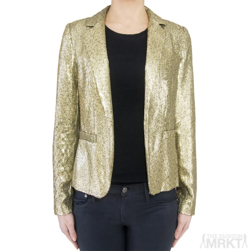 MICHAEL Michael Kors Gold Sequined Blazer / TheFashionMRKT