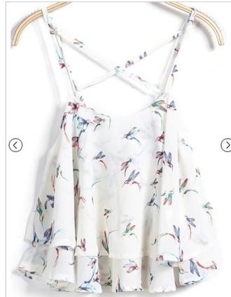blouse top birds top birds shirt