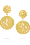 Gold-plated clip earrings | Kenneth Jay Lane | THE OUTNET