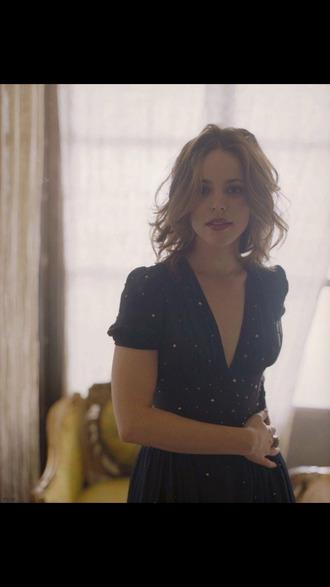 blue dress rachel mc adams actress