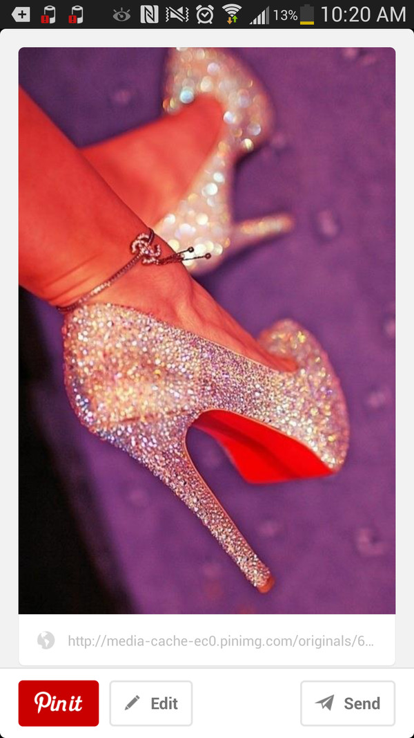 shoes heels bling