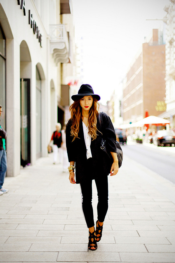 flirting with fashion coat blouse pants hat shoes bag