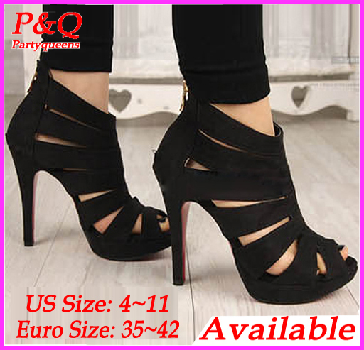 [ Big Size 4 ~ 11 ] 2014 New Fashion Sexy Open Toe Women Pumps 11cm High Heels The Peep Toe Wedding Pumps Party Dress Shoes-in Pumps from Shoes on Aliexpress.com