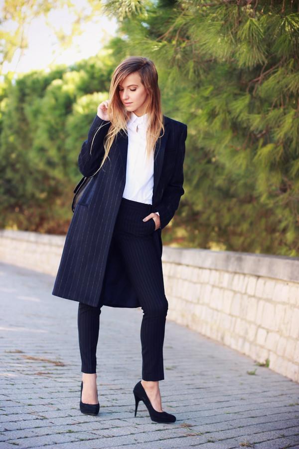fashion quite coat pants shirt bag jewels shoes