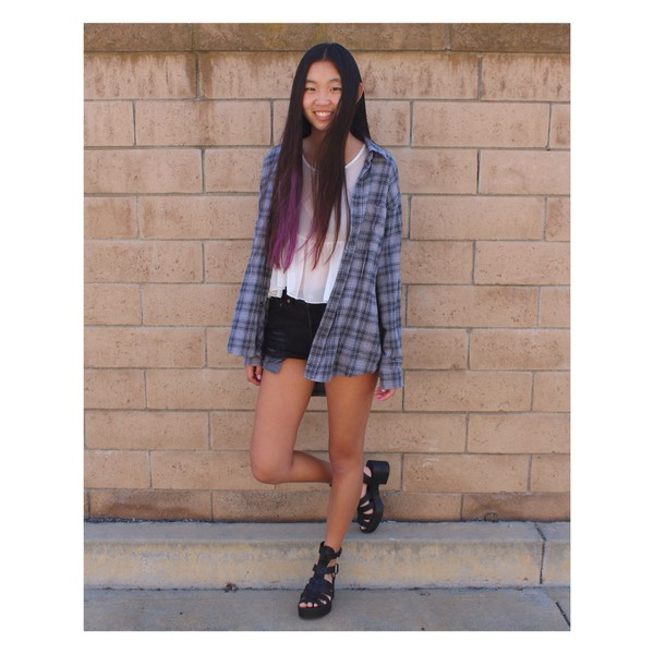 shoes black sandals heels steve madden plaid shirt streetstyle