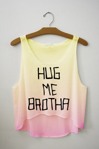 Hug Me Brotha Tie Dye Crop Top | fresh-tops.com on Wanelo