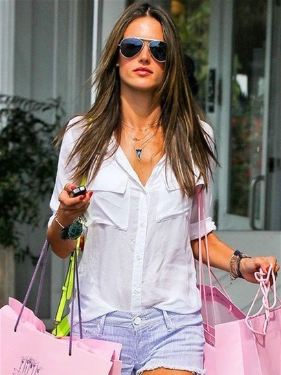 Bella Dahl Patch Pocket Button Down Shirt in White as Seen On Minka Kelly