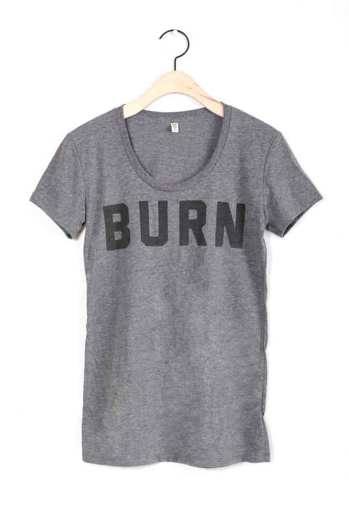 BURN Scoop Tee Dark Heather - Bridge & Burn