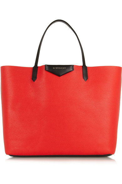 Givenchy | Large Antigona shopping bag in red textured-leather | NET-A-PORTER.COM