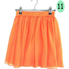 N08 High Waist Pleated Double Layer Chiffon Short Shirred Skirts Mini Pompon