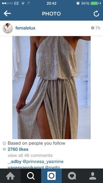 dress metallic sparkle evening dress